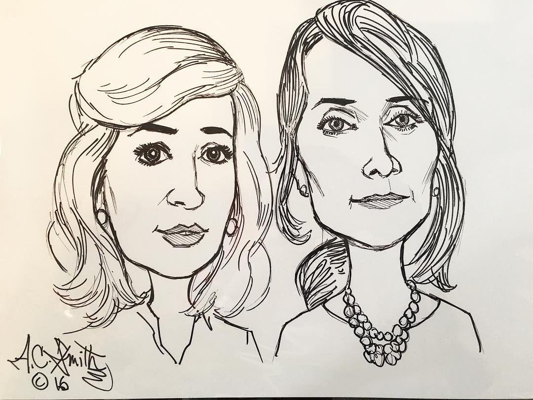 Lovely artist drew my mother & I.  #nala #nola #artist #frenchquarter #art #drawing #profile #lifestyle by stylish_angela