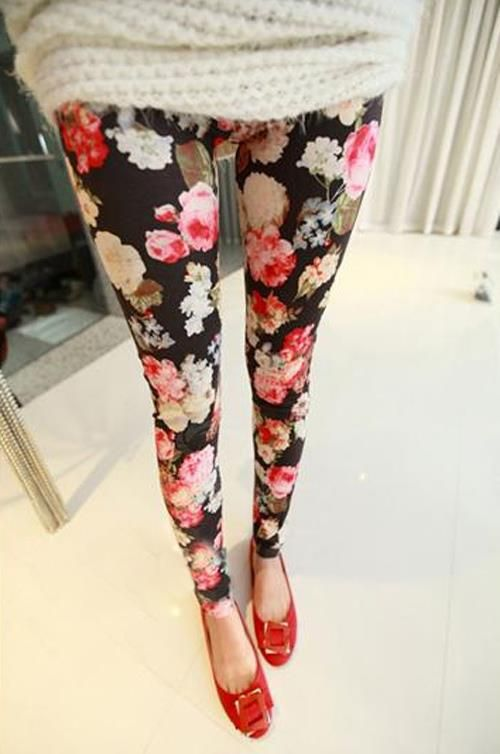 Leggin floral L'amour Choses https://www.facebook.com/LamourChoses?directed_target_id=0