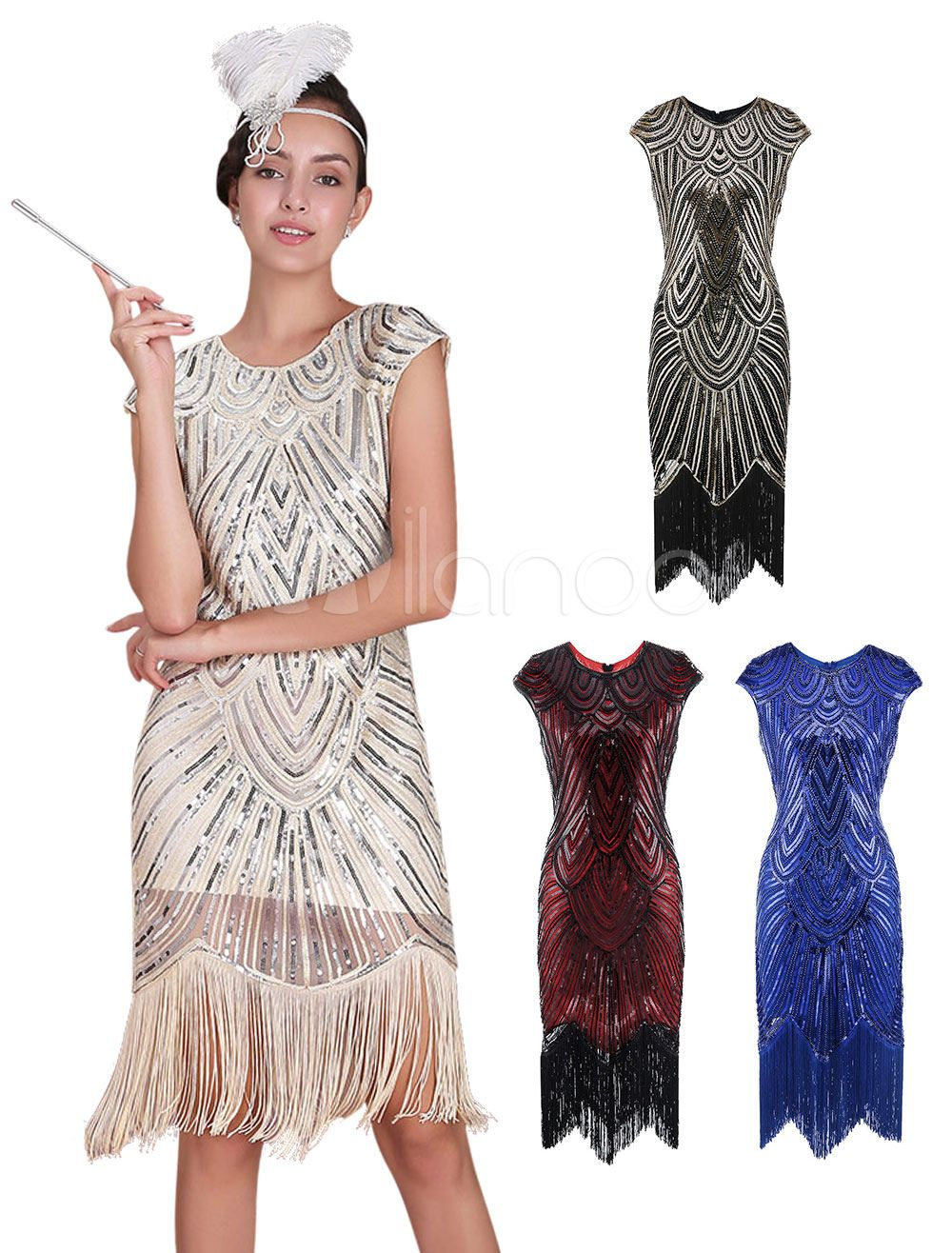 20s Fashion Style Flapper Dress Great Gatsby Vintage Costume