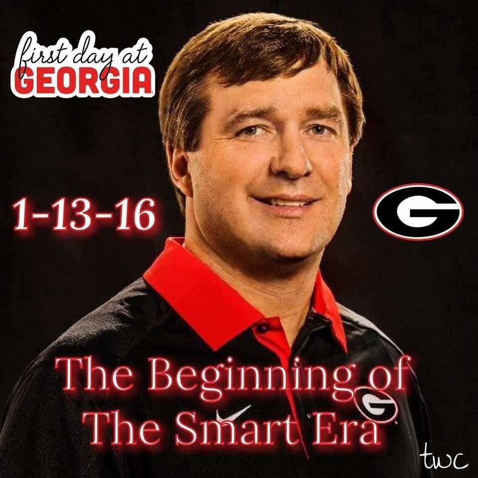 1 13 16 The Smart Era 2016 Former Alabama Defensive Coordinator Kirby Smart Did Dual Duty Between Bama And Uga For A Month Prepari Georgia Bulldogs Football Georgia Bulldogs Bulldogs Football