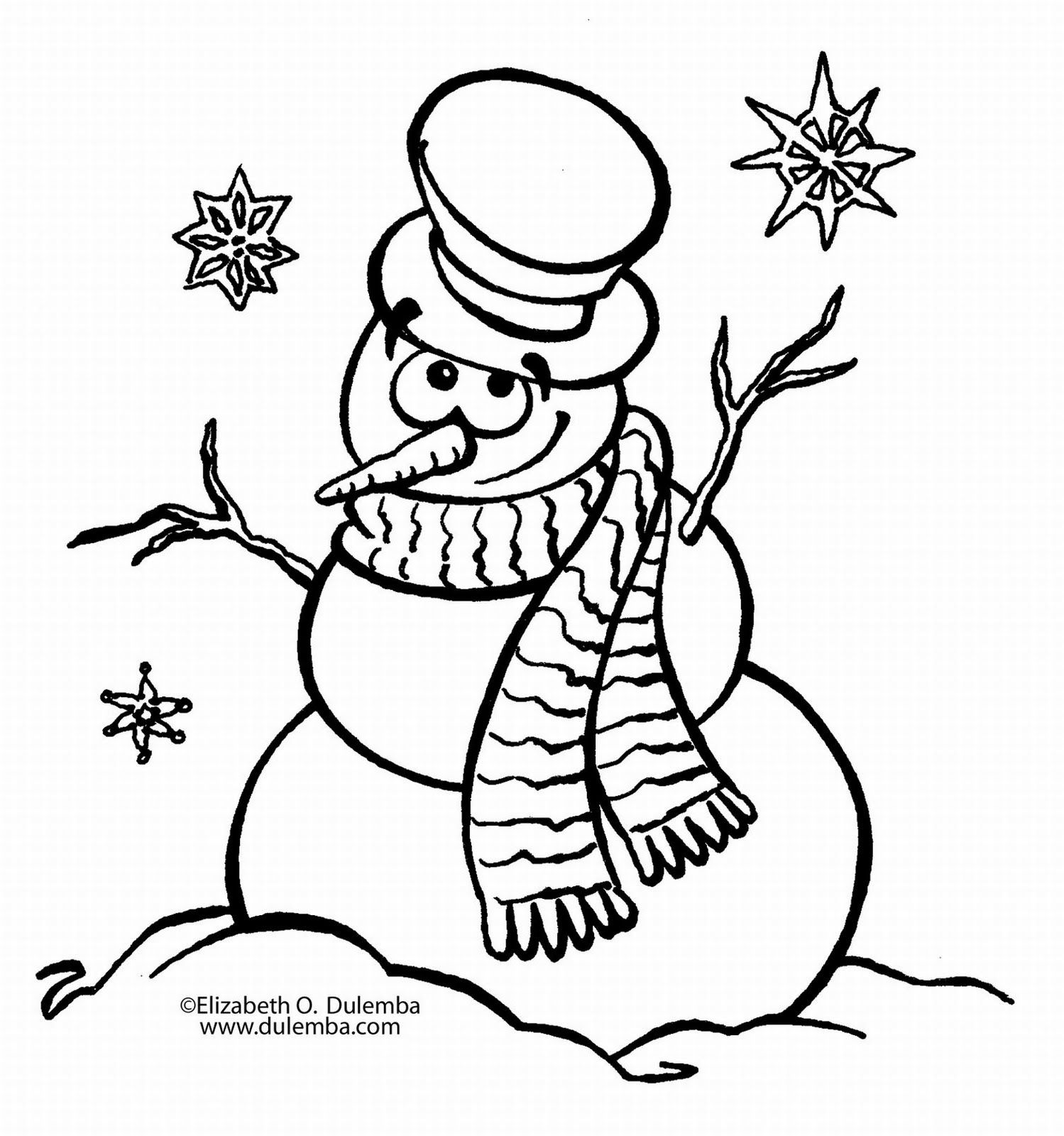 Blank Coloring Pages To Print With Images Snowman Coloring