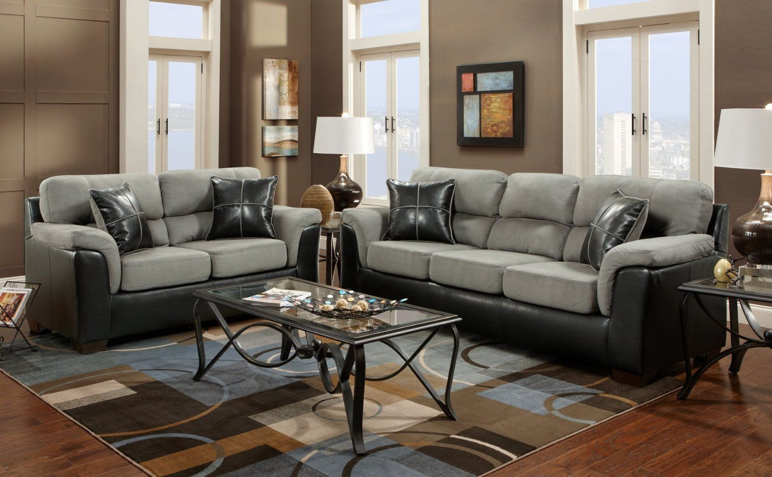 Living Room Furniture Sets   2 Piece Sofa And Loveseat Set. Visit Us For  More Information And Where To Buy! | Home Decor And Ideas | Pinterest | Grey  Walls, ...