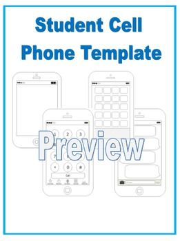 blank cell phone templates 4 templates teaching tools