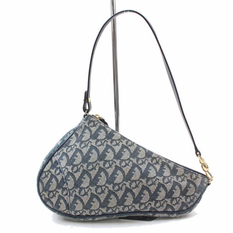 150b0ef7bbe6 Christian Dior Hand Bag Navy Blue Canvas 172124 #Pradahandbags ...