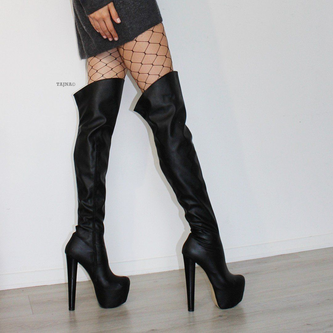 73eb57037df Black 19 cm Knee High Platform Boots – Tajna Club