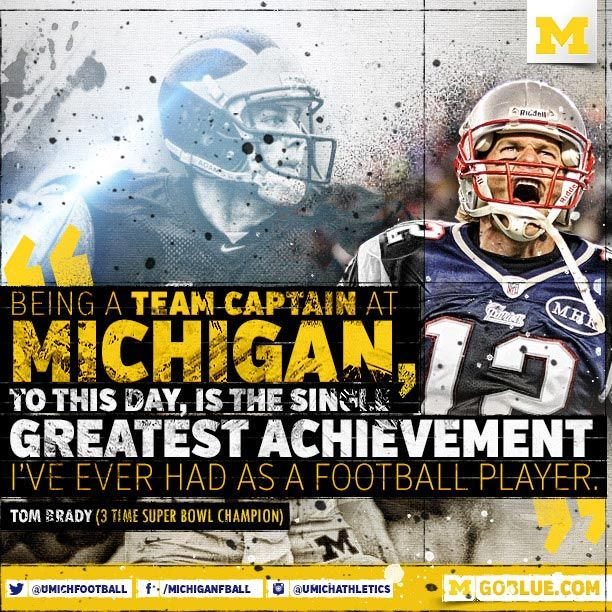 New England Patriots QB Tom Brady on University of Michigan Football.   NCAAF  NFL 44a6cf355