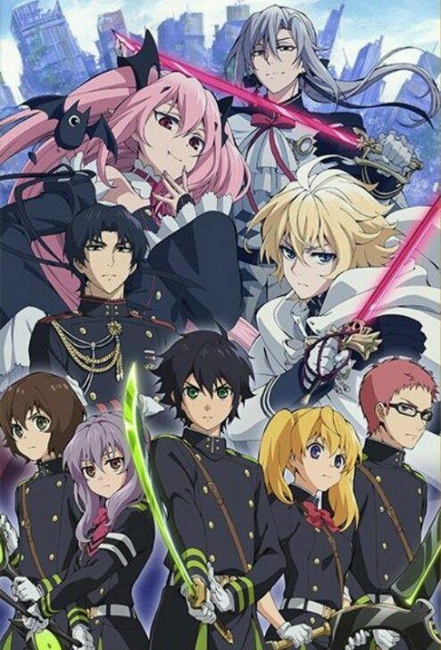 Все персонажи из аниме последний серафим