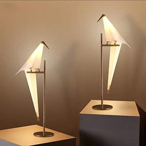 lampe de chevet lampe lampe de chambre origami oiseau Creative