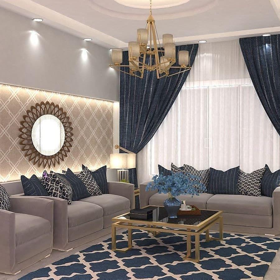 مفروشات ابو فهد On Instagram كنب جلسات ستائر جديد وتنجيد تفصيل بحسب الطلب واسعار م Classy Living Room Living Room Decor Apartment Living Room Design Modern