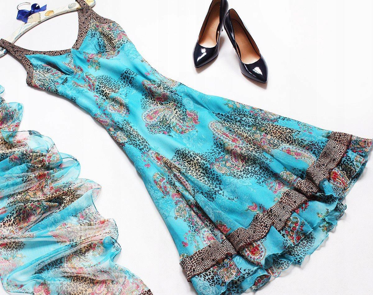 Marks Spencer Rozkloszowana Sukienka Nowa 42 7408662765 Oficjalne Archiwum Allegro High Neck Bikinis Fashion Swimwear