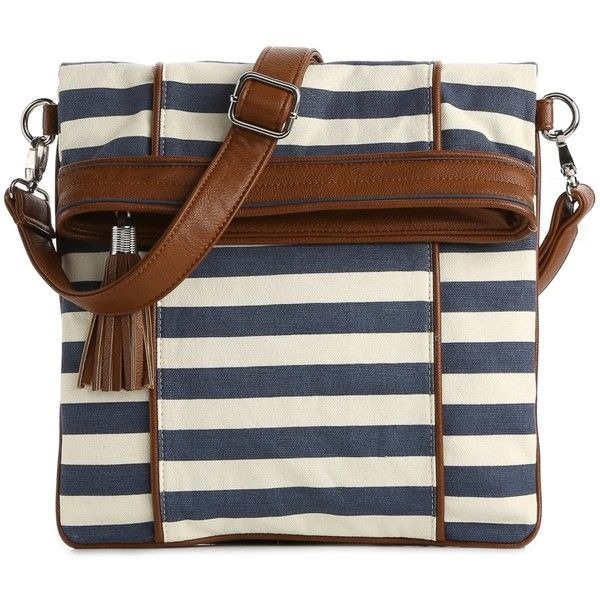 Kelly & Katie Canvas Stripe Messenger Bag ($35) ❤ liked on Polyvore featuring bags, messenger bags, handbags, purses, сумки, vibrant colors, stripe bag, striped canvas bag, messenger bag and stripe messenger bag