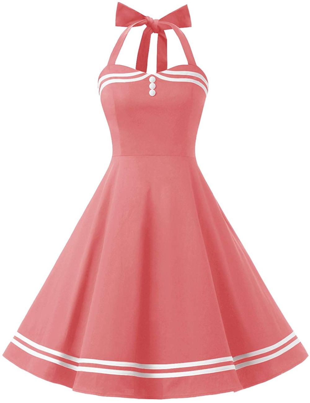 Amazon Com Find Dress Women 50s Vintage Short Halter Cocktail Dress With Buttons 10387 Burgundy 2x Vintage Dresses 50s Womens Vintage Dresses Rockabilly Dress [ 1302 x 1000 Pixel ]