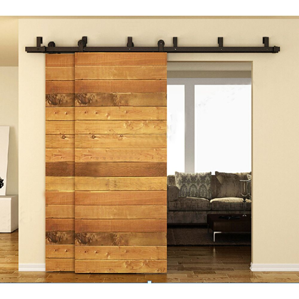 12 16ft Interior Barn Door Kits Sliding Door Track Rustic Wood Hardware Steel American Arrow Styl Bypass Barn Door Hardware Bypass Barn Door Barn Doors Sliding