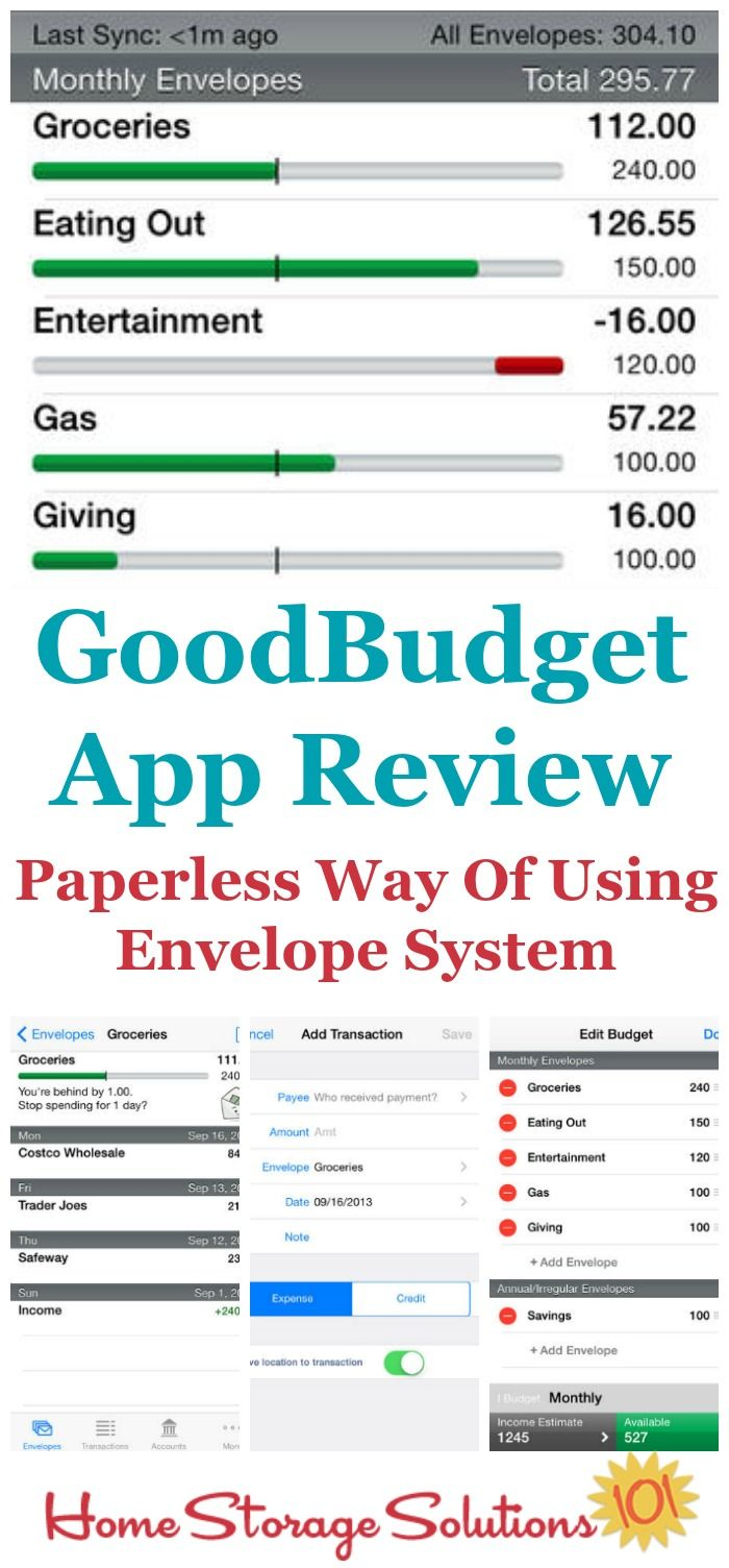 goodbudget app reviews formerly known as eeba bugets pinterest