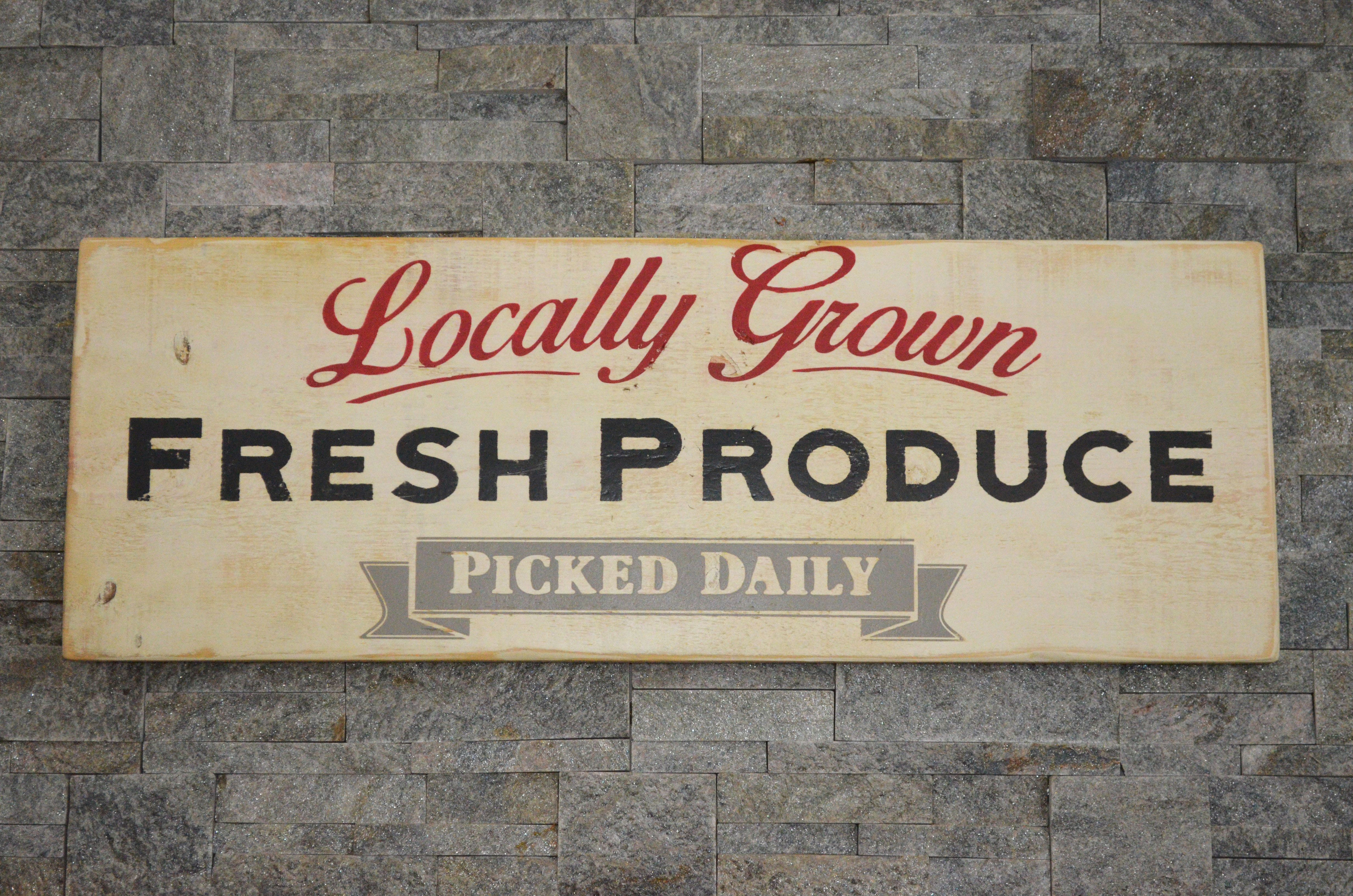 Locally Grown Fresh Produce Wood Sign Farmhouse Sign Collection Approx Size 12 X 36 Rustic 1 Vintage Wooden Signs Fresh Produce Sign Vintage Wood Signs