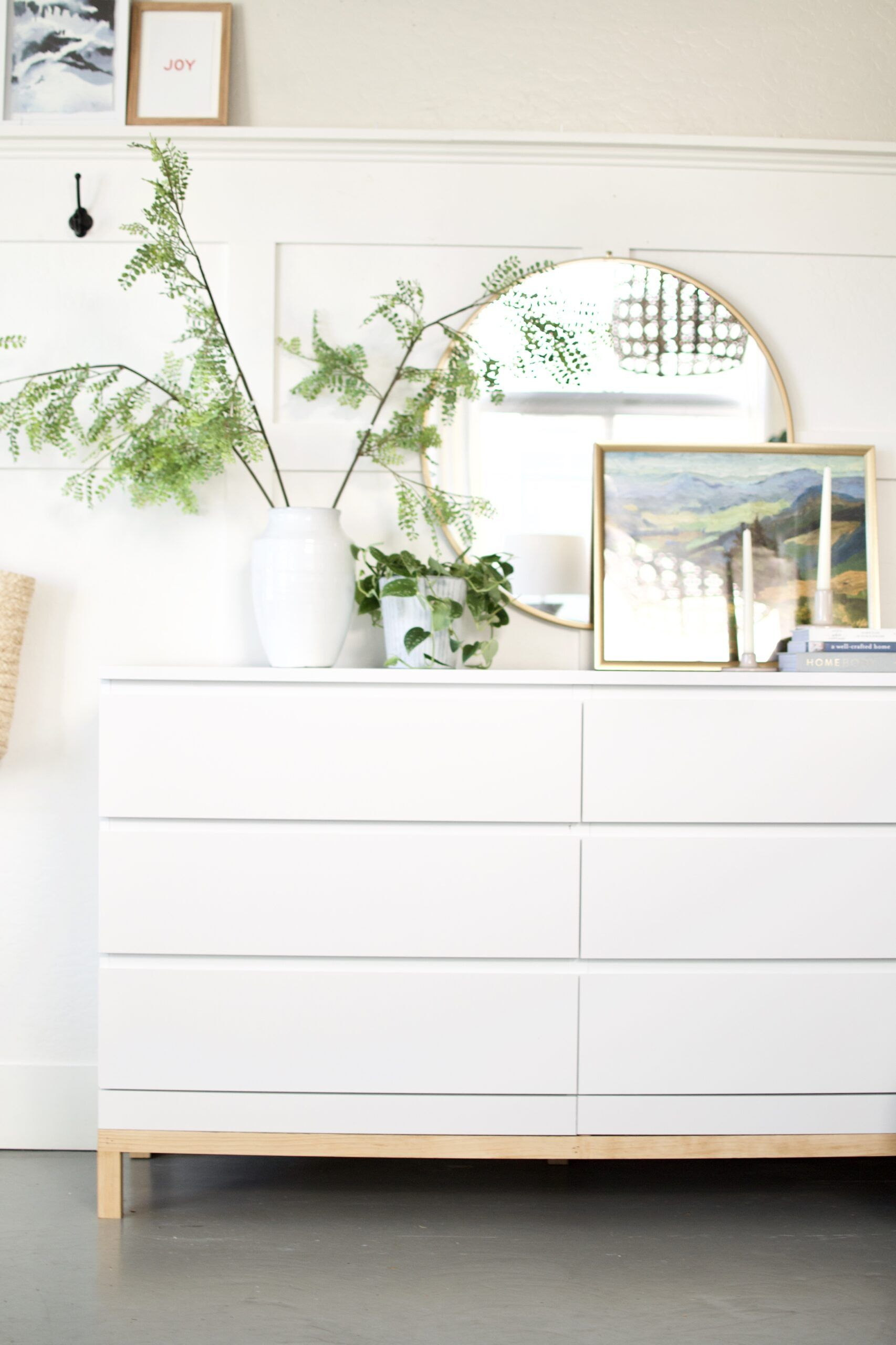Chic + Simple Ikea Malm Dresser Hack.