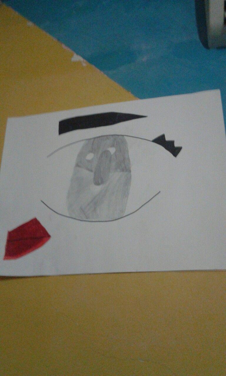 boceto de ojo para habitacion tipo tumblr.