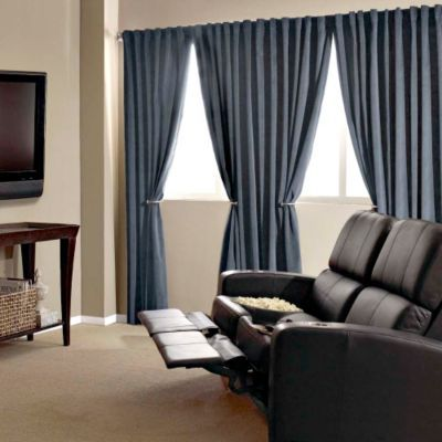 Use Absolute Zero Home Theatre Curtain Panels To Create Movie Like Darkness These Black Out Curt Home Theater Furniture Home Theater Curtains Theatre Curtains
