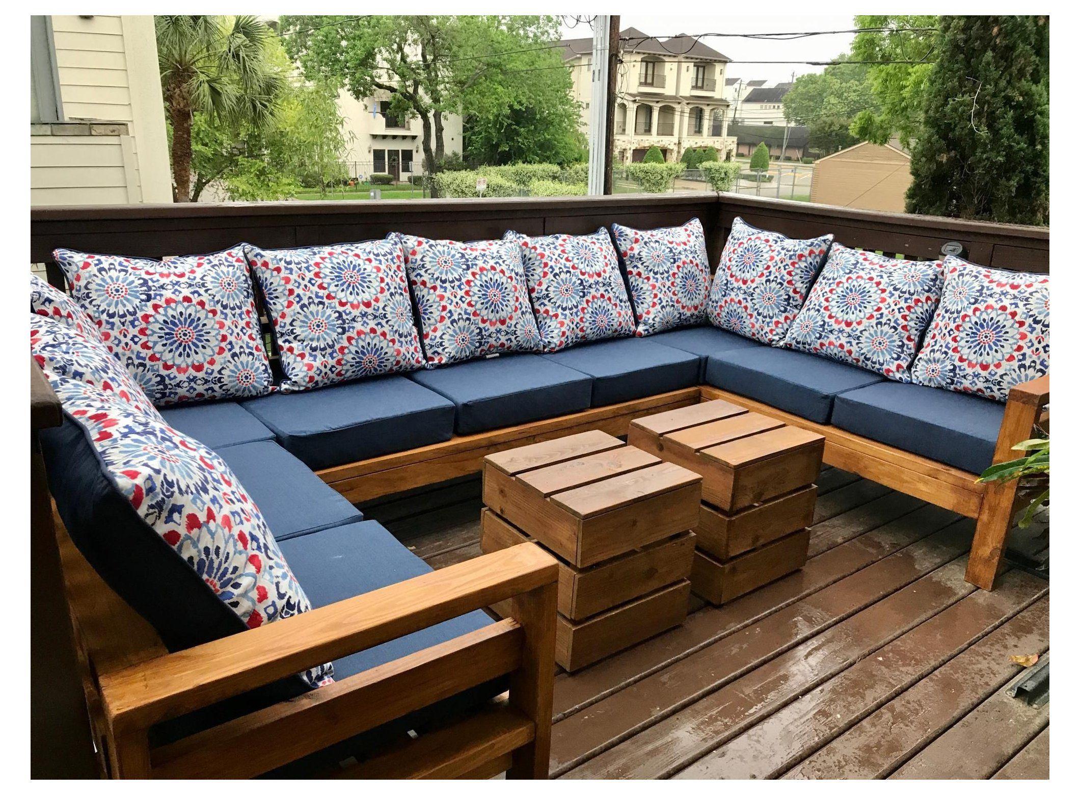 2x4 outdoor sectional sofa diy