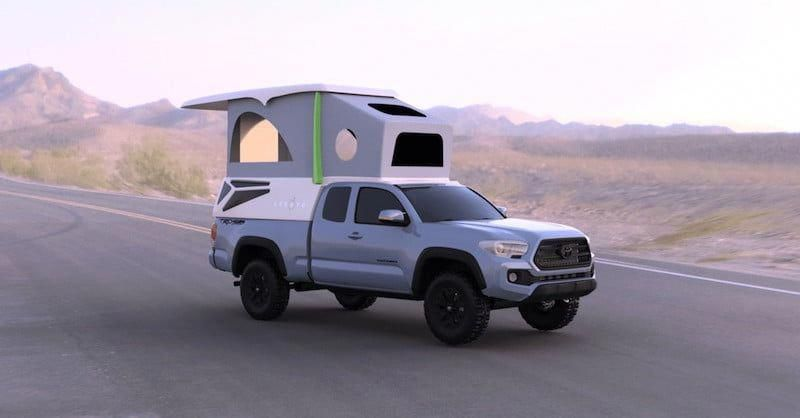 Leentu Is A Lightweight Pop Up Camper Built For The Toyota Tacoma