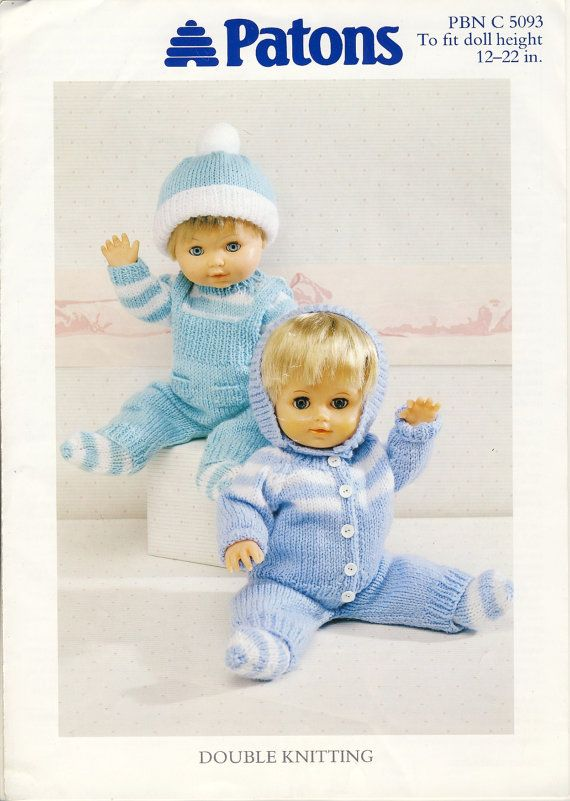 e5aee36ce396 Patons PBN C 5093 Dolls Clothes Knitting by PatternaliaVintage ...
