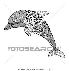 صور رسومات زخرفية ابيض واسود Google Search Hand Drawn Vector Illustrations Dolphins White Dolphin
