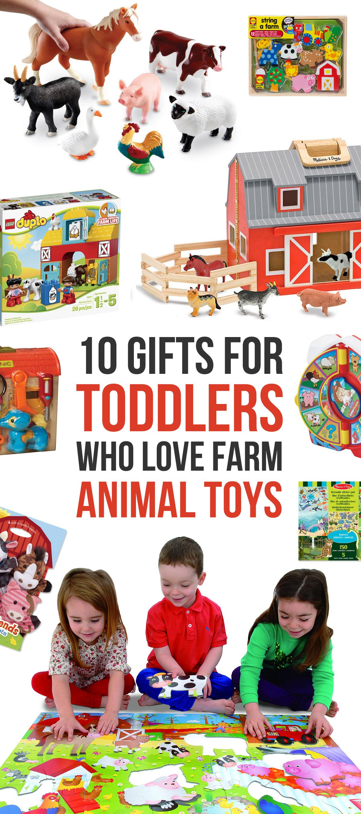 10 Best Gifts for Toddlers who Love Farm Animal Toys