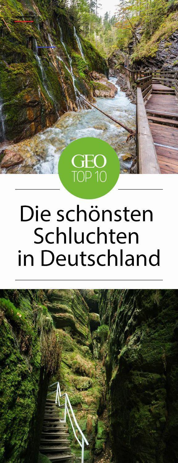 Die zehn schönsten Schluchten in Deutschland - #traveldestinations - Wir zeigen Ihnen, die zehn eindrucksvollsten Klammen und Schluchten Deutschlands...