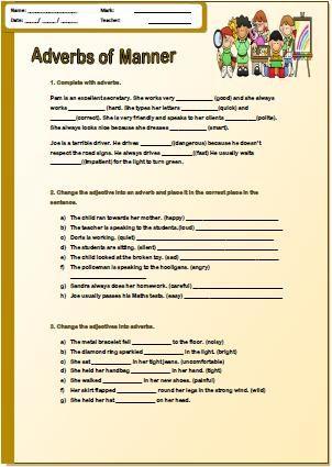 Adverbs of Manner Pre-Intermediate Worksheet | adverbs | Pinterest
