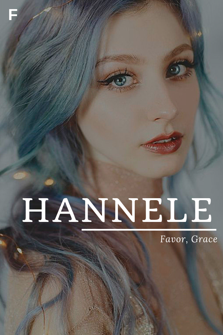 Hannele, meaning Favor, Grace, Finnish names, H baby girl