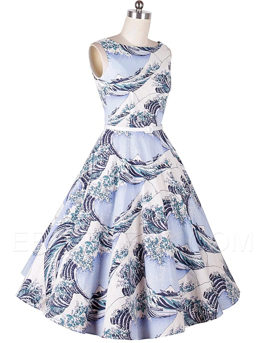 Ericdress Print Expansion Casual Dress Casual Dresses