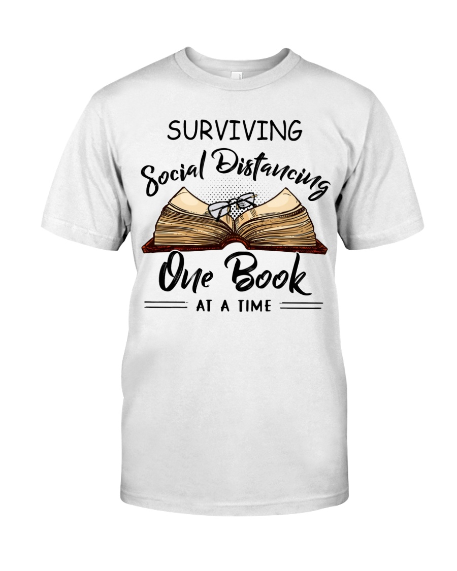 Surviving Social Distancing One Book in 2020 Book shirts