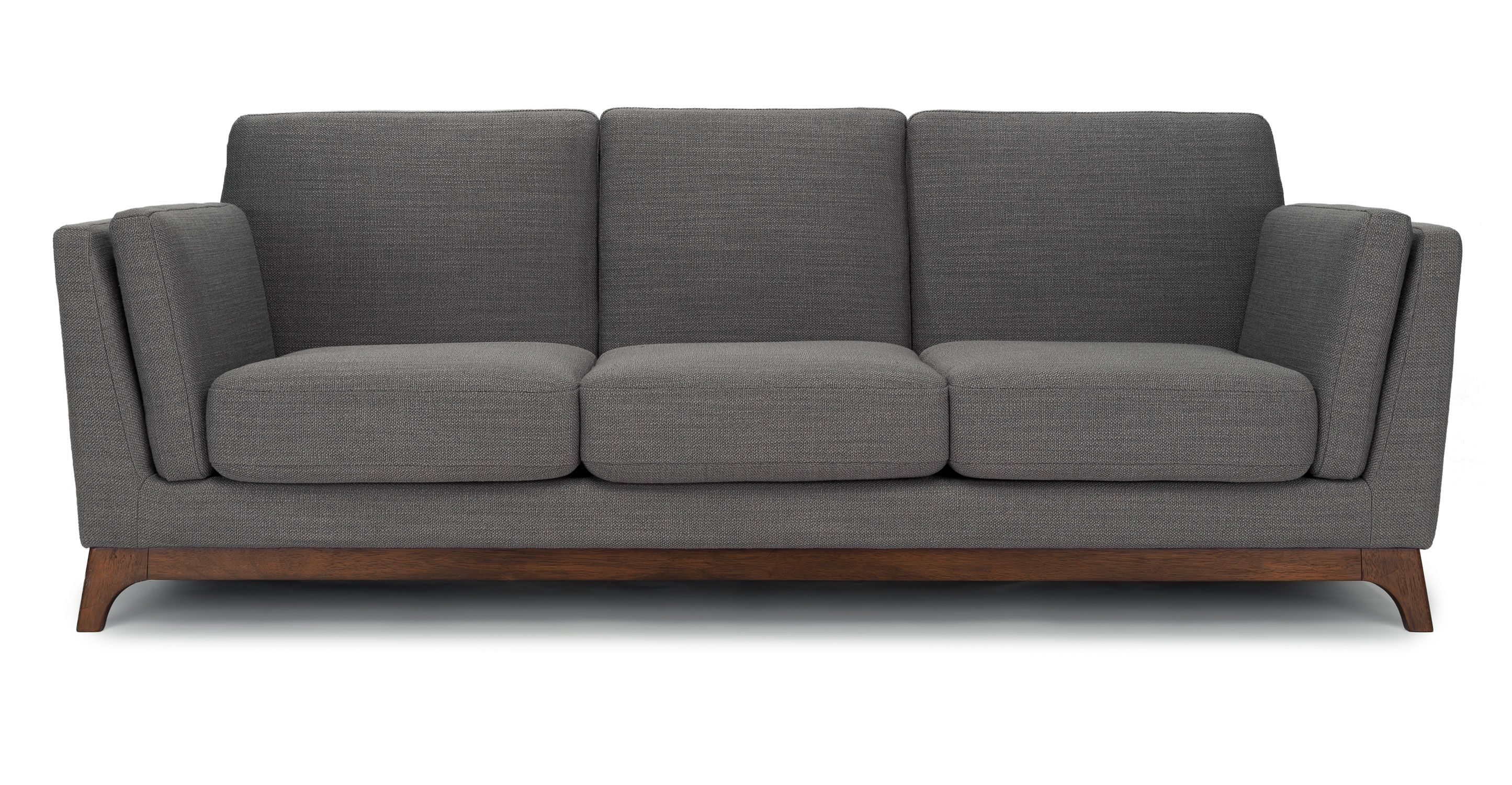 Discount Scandinavian Furniture Gray Sofa 3 Seater With Solid Wood Legs Article Ceni