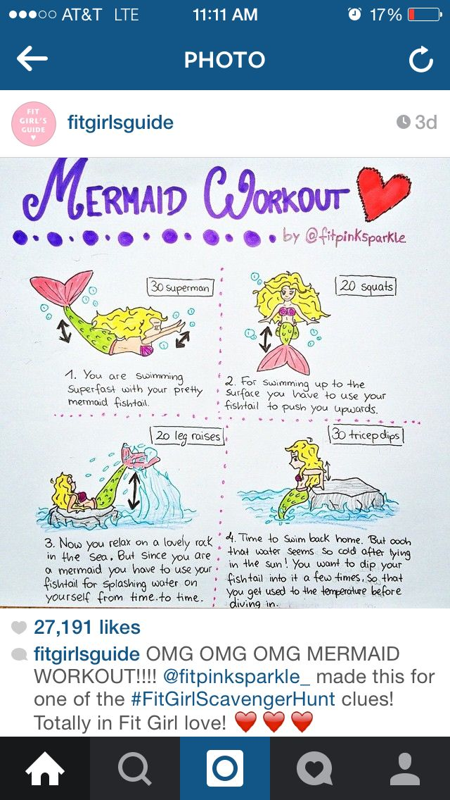 Cute workout mermaid style