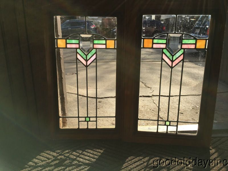 Gl 2 Small Prairie Style Stained Leaded Window