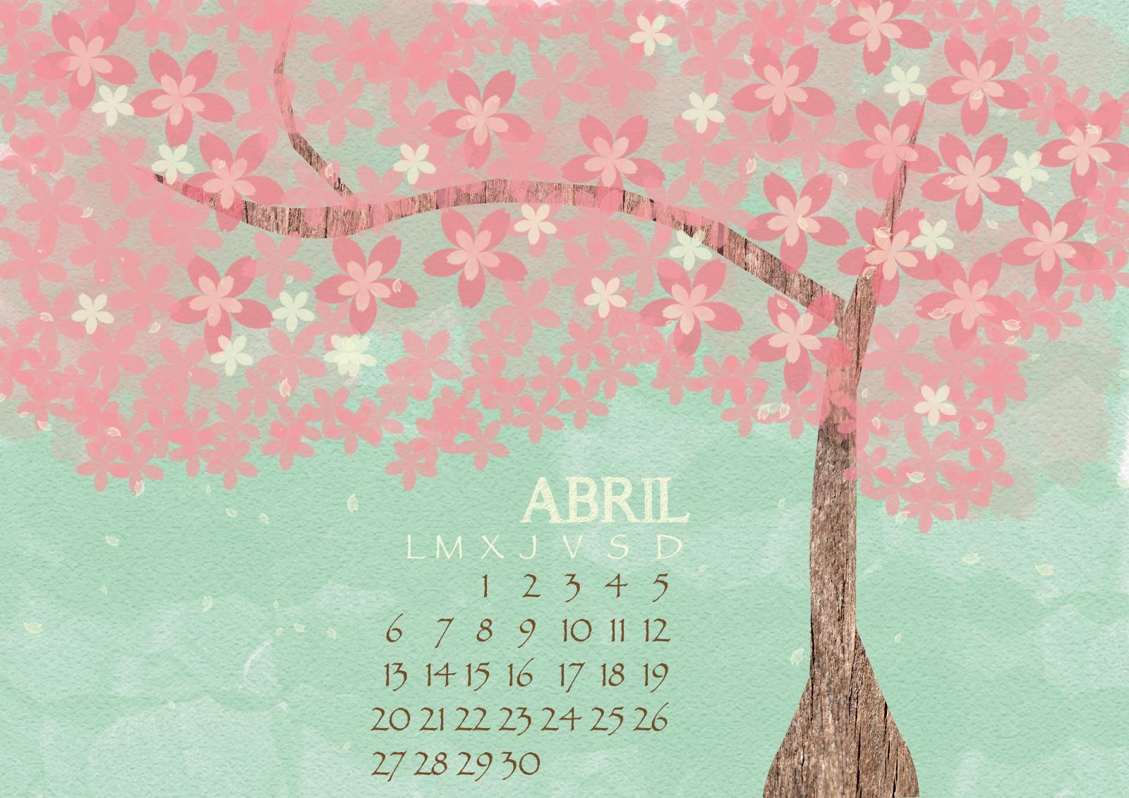 Calendario abril fondo de escritorio me inspiro for Buscar fondos de escritorio