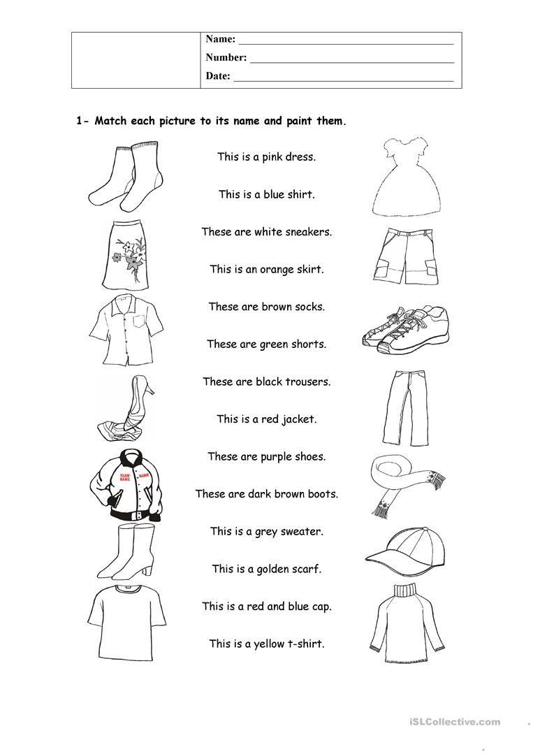 clothes   Clothes worksheet [ 1079 x 763 Pixel ]