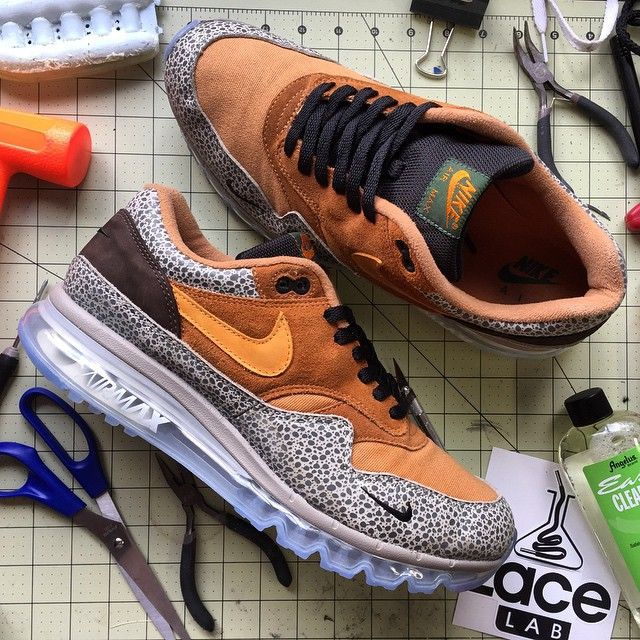 detailed look f3d97 154a9 Nike Air Max 360 Safari Sole Swap