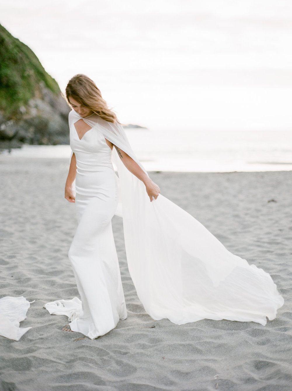 Wedding beach dress  California Beach Wedding Inspiration by Madalina Sheldon