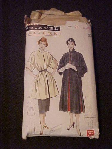 Vintage-Butterick-Ladies-Slim-Box-Coat-w-Kimono-Sleeves-Pattern-5703