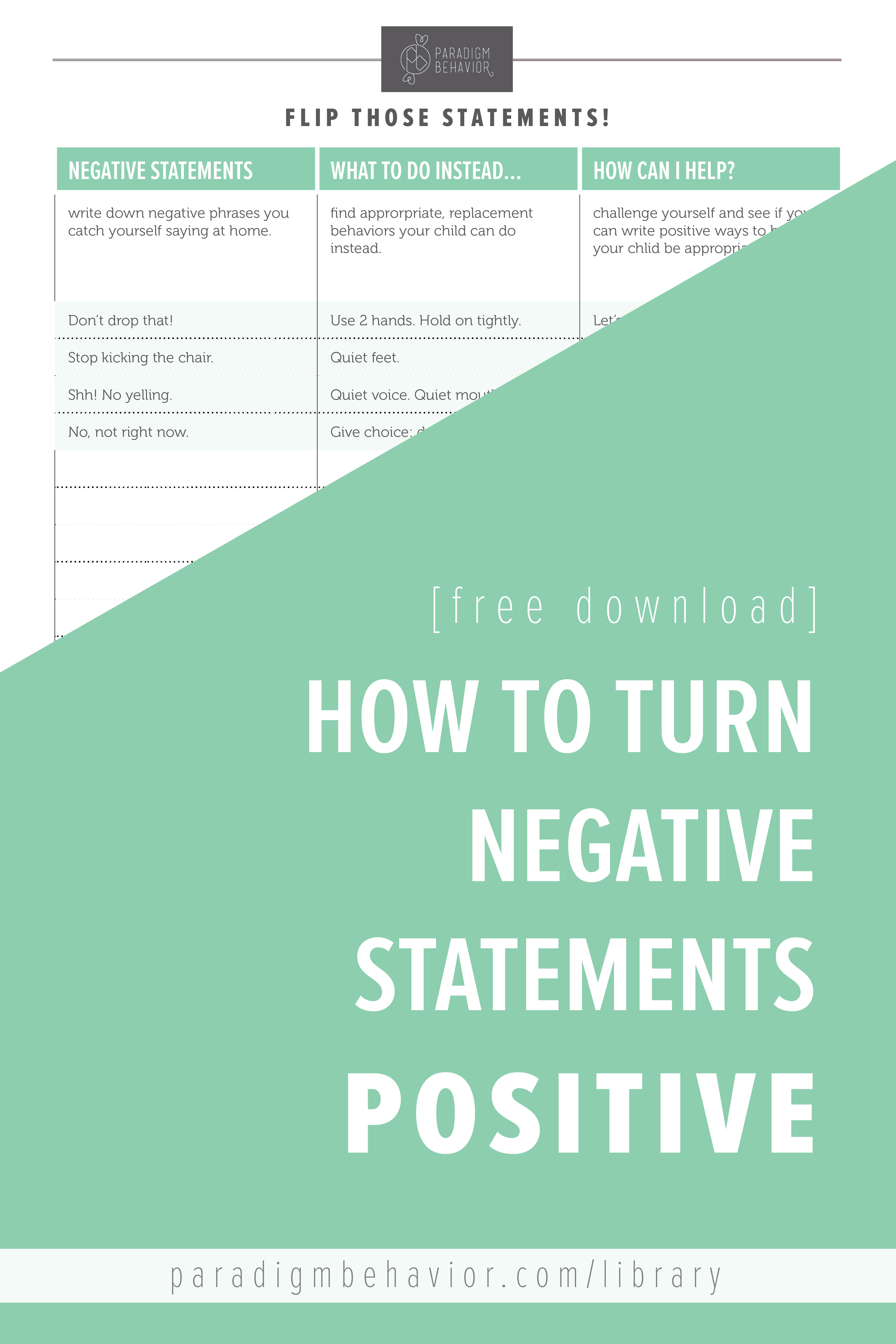 Flipping Negative Statements
