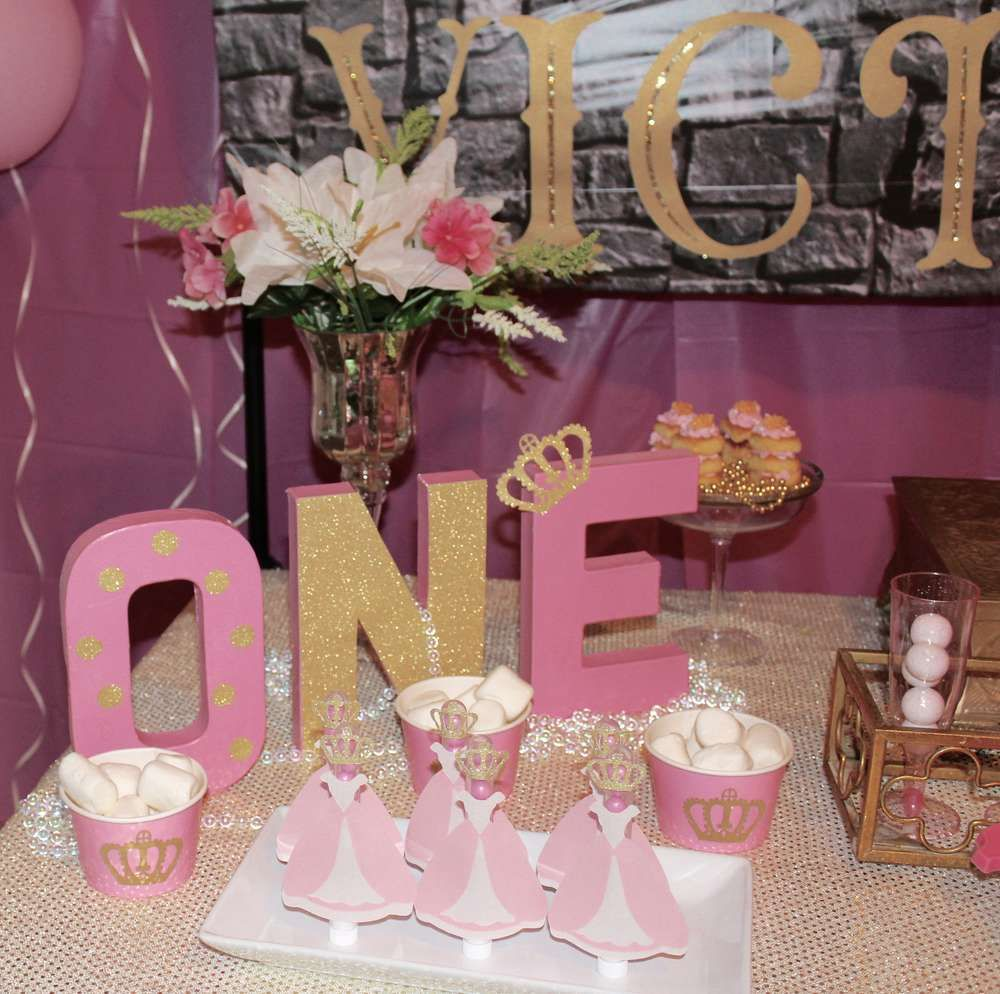Pink And Gold Princess 1st Birthday Party Fresh Pink And: Queen/princess Birthday Party Ideas
