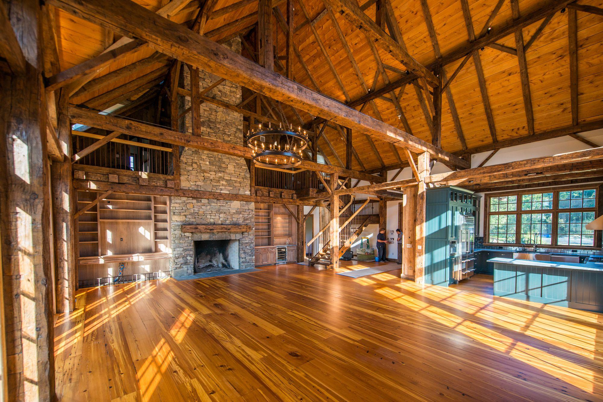 Scotch ridge barn home heritage restorations for Log pole barn