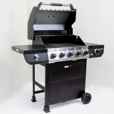Brinkmann 5 Burner Propane Gas Grill With Side Burner 810 2512 S The Home Depot Propane Gas Grill Gas Grill Built In Grill