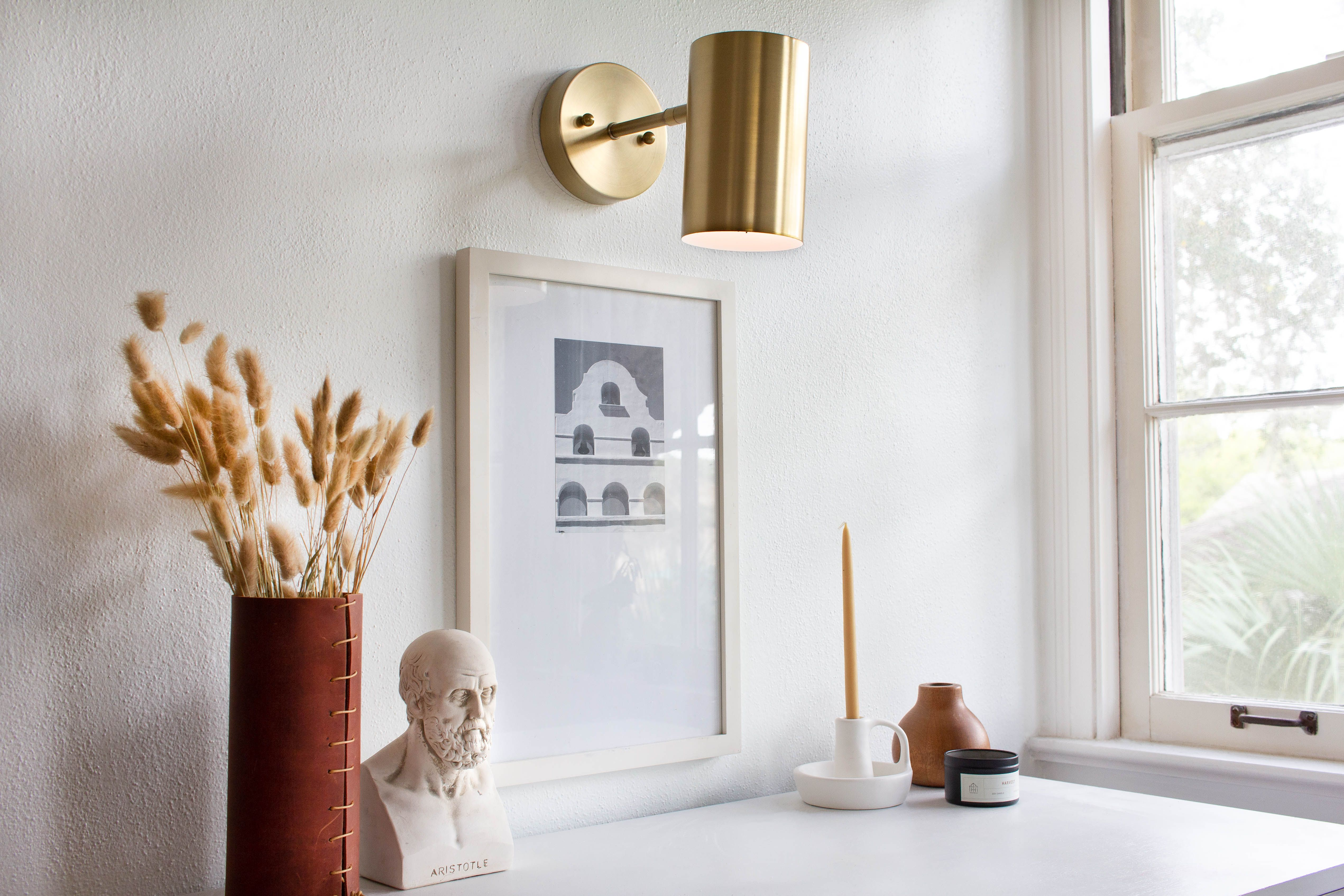 Genius Wall Sconce Hack, No Electricity Required | Hunker ... on Sconces No Electric Power id=42344