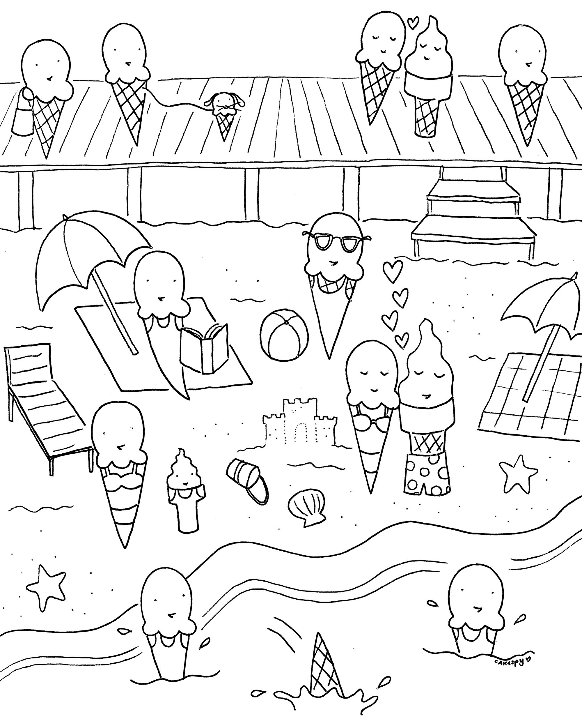 Craftsy Com Express Your Creativity Summer Coloring Pages Cool Coloring Pages Preschool Coloring Pages
