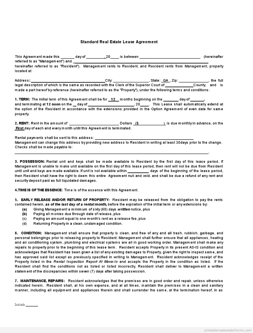 Free Printable Rental Lease Agreements Form Template In 2020 Lease Agreement Real Estate Lease Rental Agreement Templates