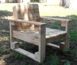 Pallet Chair for outdoor use