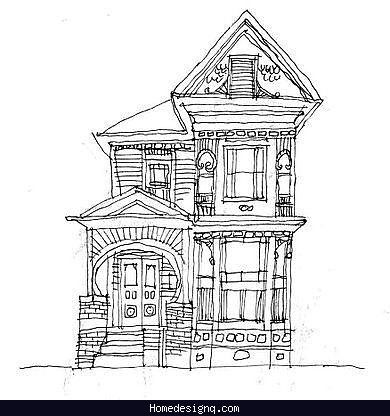 Nice Architectural Drawings Houses House Drawing