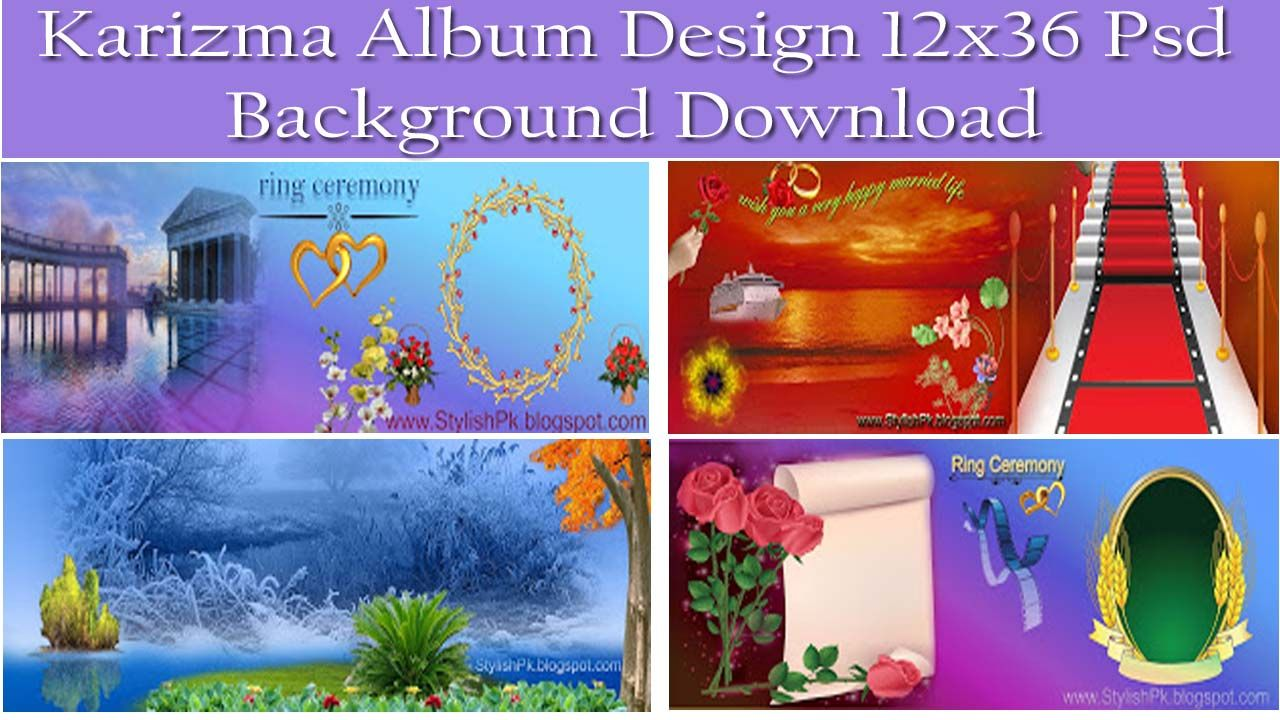 karizma album 12x36 psd background template